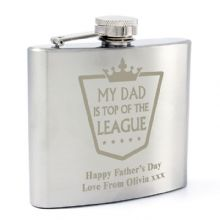 Top of the League Hip Flask